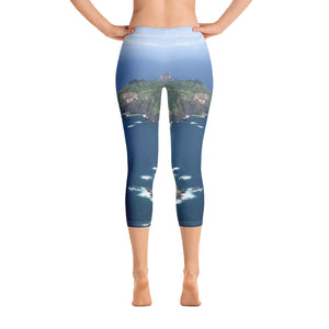 Maui Collection: Coastline Helicopter View Capri Leggings