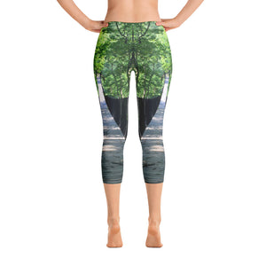 Georgia Collection: Walking Bridge in Forrest Capri Leggings