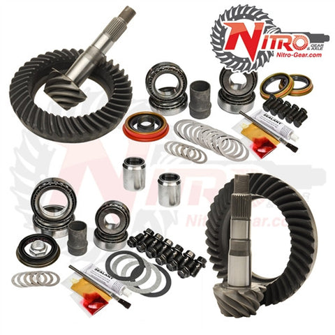 2010+ Toyota FJ Cruiser, 4-Runner, Prado 150 & Lexus GX460 without E-Locker, (Select Ratio), Nitro Front & Rear Gear Package Kit