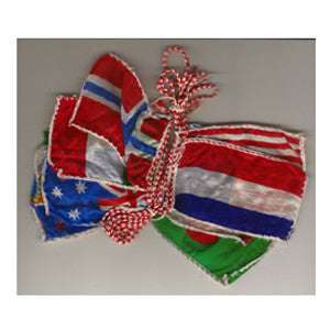 Production String Of Silk Flags, Small