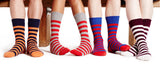 WOMEN'S CASHMERE STRIPED SOCKS