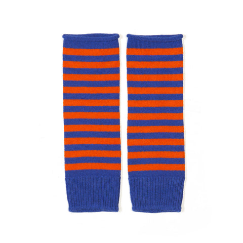 STRIPED CASHMERE COTTON WRISTWARMERS