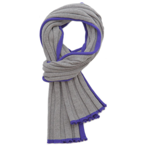 RIBBED TIPPED SCARF