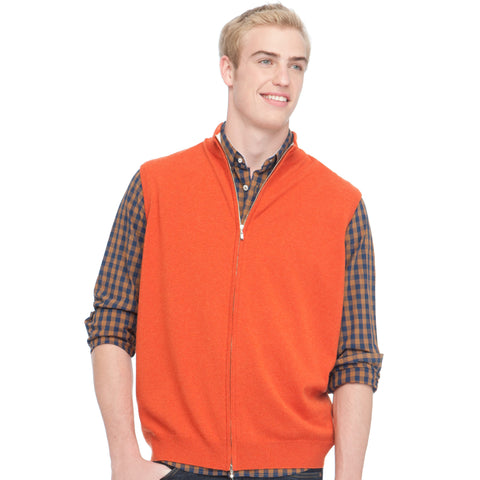 TWO TONE DOUBLE ZIP VEST