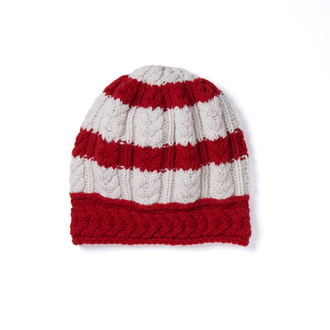 STRIPED CABLE CAP