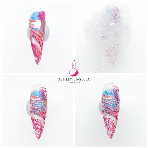 How to Create the Soap Bubble Nail Design Effect