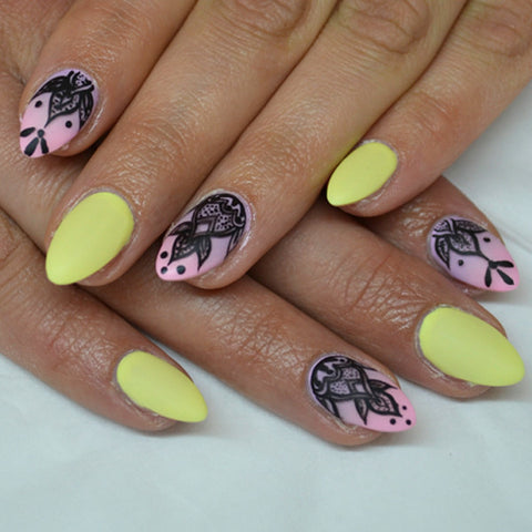 Henna tattoo nail art light elegance step by step prinsesfo Image collections