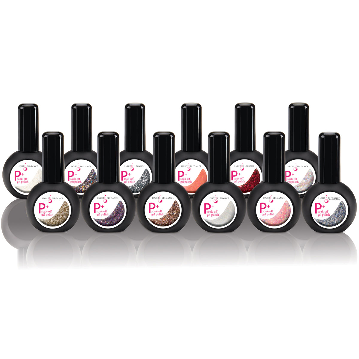 P+ Classic Glitter Gels Collection - Get All 12 New Shades Here