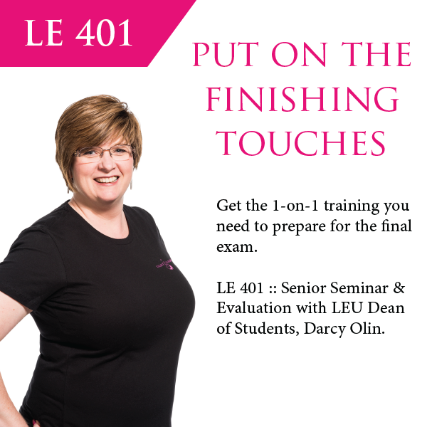 LE 401 :: Senior Seminar & Evaluation