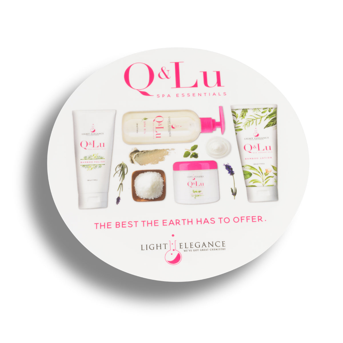 Q&Lu Spa Essentials Window Cling