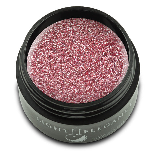 Salmon UV/LED Glitter Gel - Light Elegance