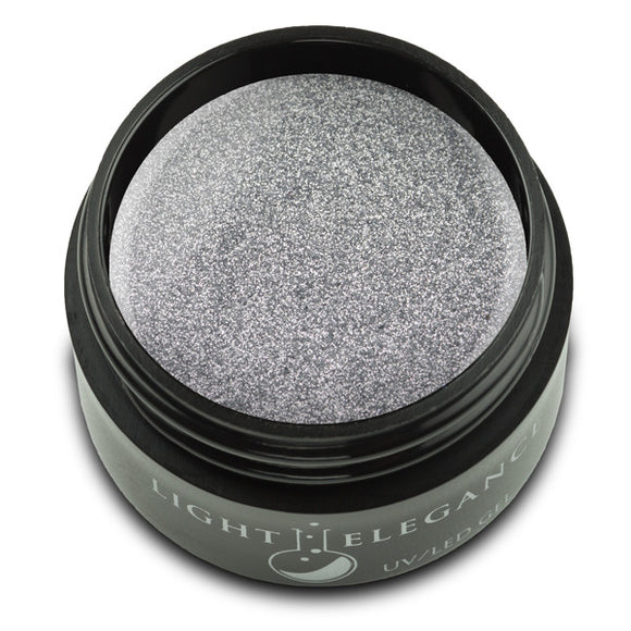 Silver Sparkle UV/LED Glitter Gel - Light Elegance