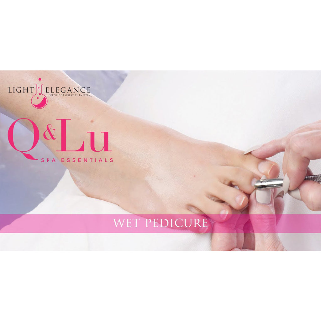 Wet Pedicure Step-by-Step using Q&Lu Spa Essentials