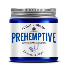 Natural Pain Relief CBD Cream 500mg/4oz Jar Lavender and Ginger