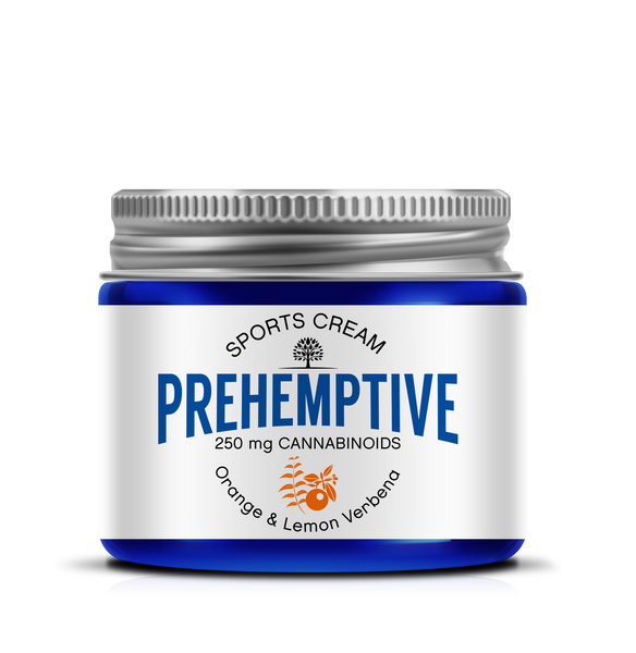PREHEMPTIVE Orange & Lemon Verbena Sports Cream 250mg - PREHEMPTIVE