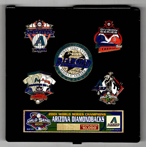Arizona Diamondbacks 2001 World Series Pin Set Limited Edition SN - TnTCollectibles