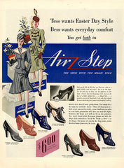 1940 Air Step Ladies Shoes Original Print Ad - TnTCollectibles