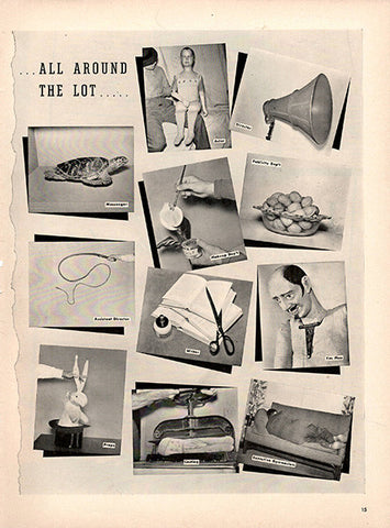 1940 All Around The Lot Original Movie Lot Print Ad - TnTCollectibles