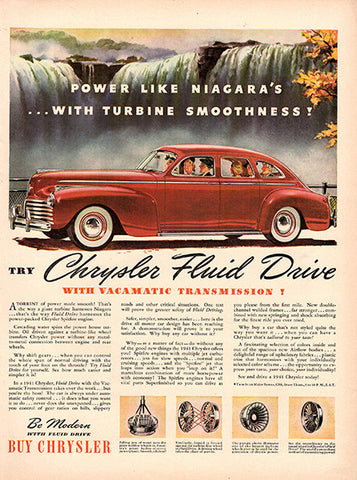 1940 Chrysler Fluid Drive Original Car and Truck Print Ad