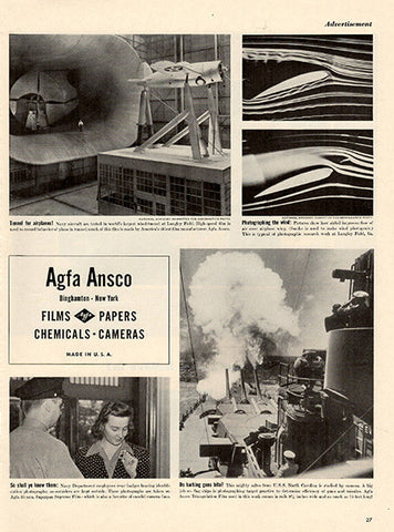 1941 Agfa Ansco Photography Supplies Original Print Ad - TnTCollectibles