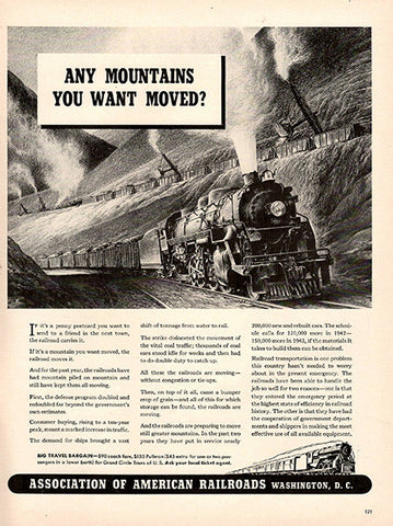 1941 Association of American Railroads Original Transportation Print Ad - TnTCollectibles