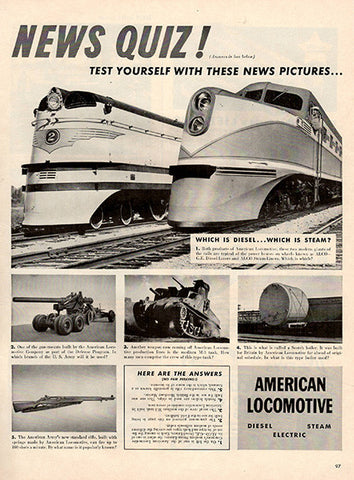 1941 American Locomotive Railroad Original Military Print Ad - TnTCollectibles