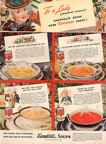 1941 Campbell's Soup Christmas Cheer Original Print Ad - TnTCollectibles