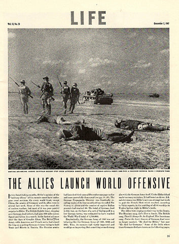 1942 Allies Launch World Offensive Original World War 2 WW2 Print Ad Two Page - TnTCollectibles - 1