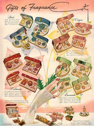 1942 Coty Gifts of Fragrance Beauty Original Print Ad - TnTCollectibles