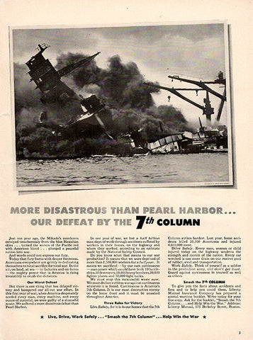 1942 More Disastrous than Pearl Harbor Original World War 2 WW2 Print Ad - TnTCollectibles