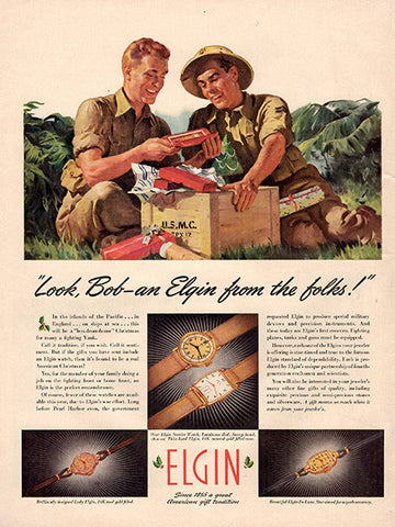 1942 Elgin Jewelry Watches Original Print Ad - TnTCollectibles