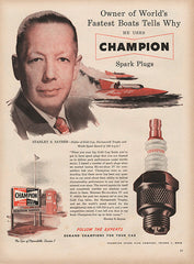 1951 Champion Spark Plugs Original Car and Truck Auto Parts Print Ad - TnTCollectibles