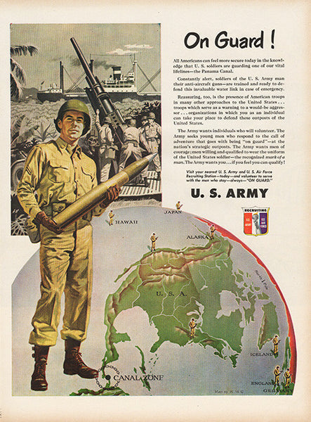 Large Antique 1951 U.S. Army Recruiting Magazine Print Ad 2 - Approx 11 x 14 - TnTCollectibles