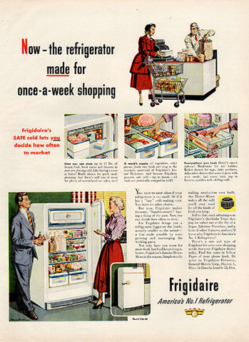 1951 Frigidaire Refrigerator Original Home and Office Print Ad - TnTCollectibles