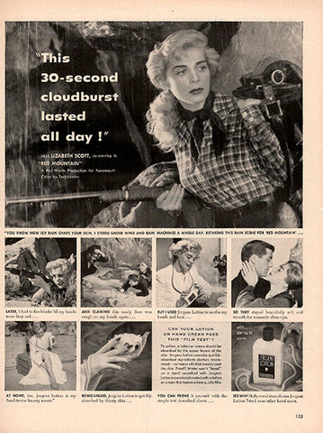 1951 Lizabeth Scott Jergen's Lotion Original Health and Beauty Print Ad - TnTCollectibles