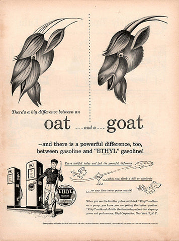 1951 Ethyl Gasoline Difference Original Energy Print Ad - TnTCollectibles