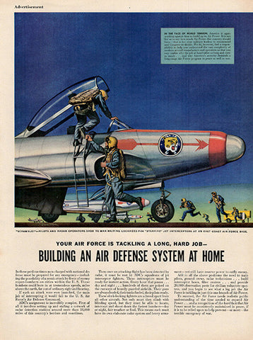 1952 Air Force Home Air Defense System Original Military Print Photo - TnTCollectibles