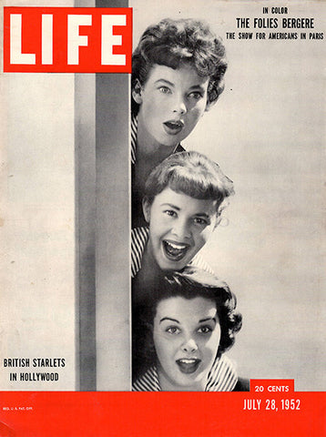 1952 British Starlets In Hollywood Original Life Magazine Cover - TnTCollectibles