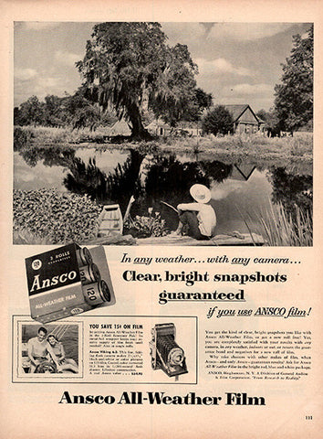 1953 Ansco Camera Film Original Photography Print Ad - TnTCollectibles