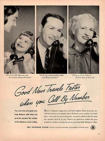 1953 Bell Telephone System Original Utility Print Ad - TnTCollectibles