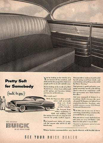1953 Buick Motors Automobile Original Car and Truck Print Ad - TnTCollectibles