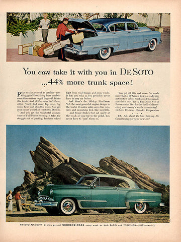 1953 De Soto Automobile Original Car and Truck Print Ad - TnTCollectibles