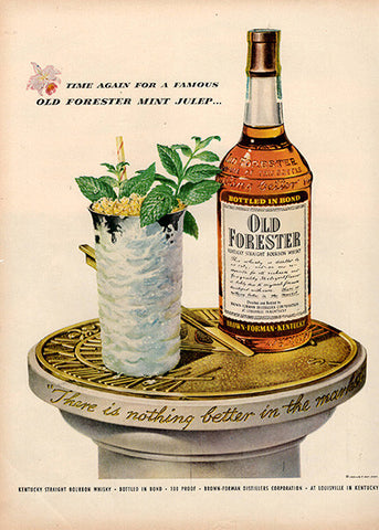 1953 Old Forester Bourbon Whiskey Original Alcohol Print Ad - TnTCollectibles
