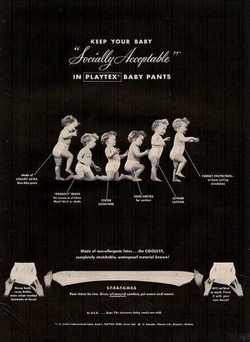 1954 Playtex Baby Pants Original Health and Beauty Print Ad - TnTCollectibles