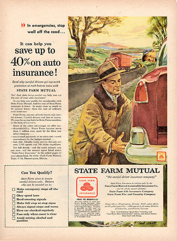 1954 State Farm Mutual Insurance Original Occupation Print Ad - TnTCollectibles