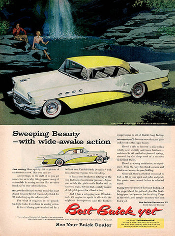 1956 Buick Motors Automobile Original Car and Truck Print Ad - TnTCollectibles