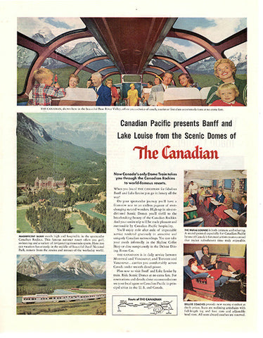 1956 Canadian Pacific Railroad Train Original Transportation Print Ad - TnTCollectibles