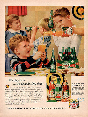 1956 Canada Dry Ginger Ale Original Food and Drink Print Ad - TnTCollectibles