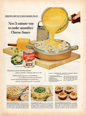 1956 Carnation Evaporated Milk Original Food and Drink Print Ad - TnTCollectibles