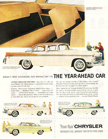 1956 Chrysler Year Ahead Original Car and Truck Print Ad - TnTCollectibles
